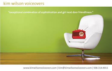 Kim Wilson Voiceovers - email campaign and website design