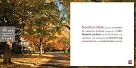 Needham Bank Annual Report, creative direction, print design, print production